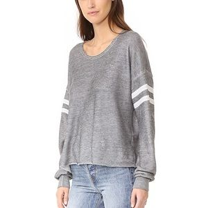 WILDFOX NWT 5am Varsity Sweatshirt Gray White S